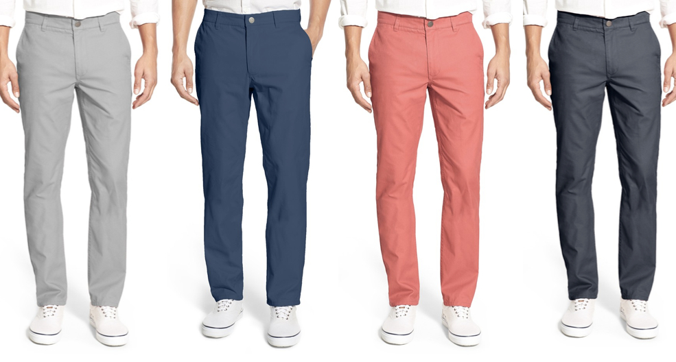 colored men chino pants